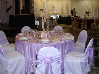 Lavender Satin Table Cloths